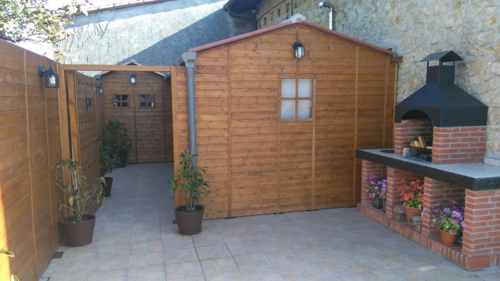 Cobertizos de madera segunda mano latest casa de green for Jardin de madera cobertizo brico depot