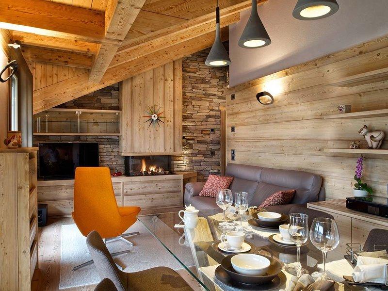 Techo construido con paneles de madera